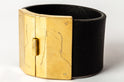 Box Lock Bracelet (Facet, Wide, BLK+AG)