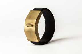 Box Lock Bracelet (Facet, Narrow, BLK+MR)