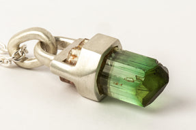 Talisman Necklace ULTRA SPECIMEN (Brace-Held, Green Tourmaline, MA+GTO)