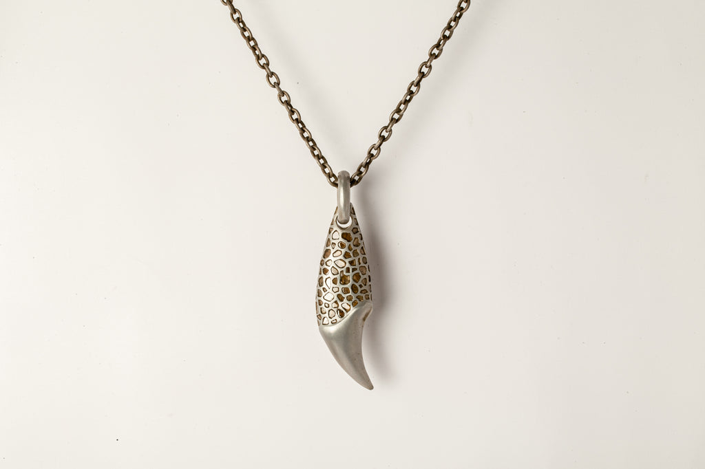 Massive Bear Tooth Necklace Ghost (Mega Pavé, AS+DA+DIA)