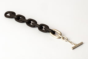 Toggle Chain Bracelet (Small Links, KU+MA)