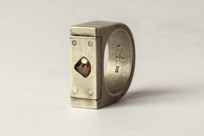 Plate Ring Single 9mm (0.4 CT, Diamond Slab, VAR, DA+DIA)