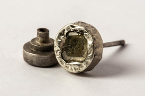 Stud Earring (0.2 CT, Yellow Diamond Slab, DA10KW+YDIA)