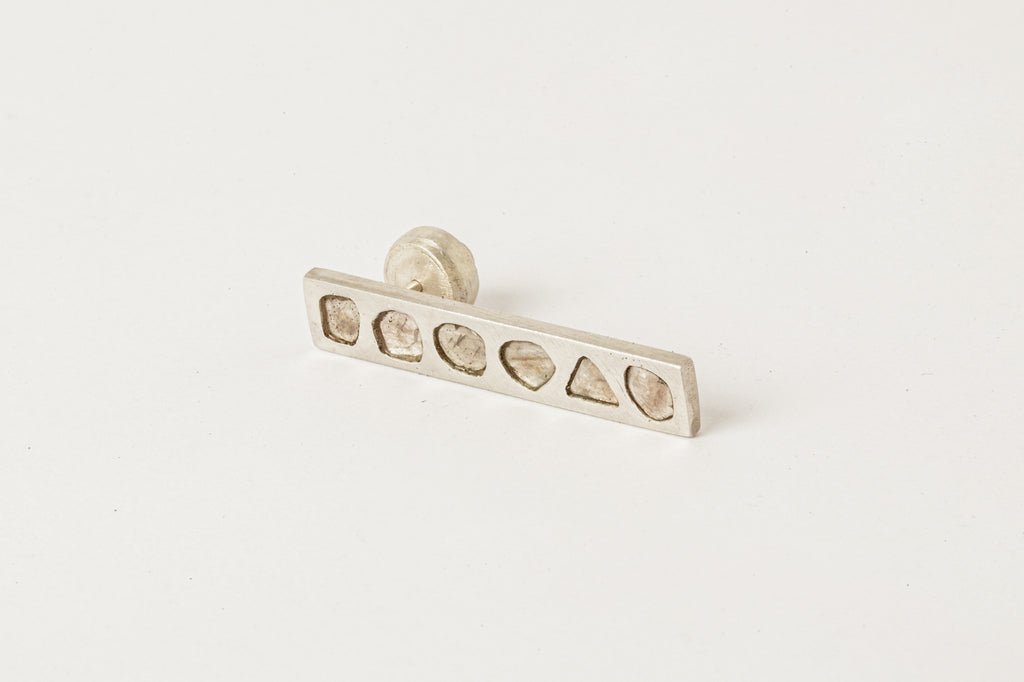 Plus Earring (Mega Pave, 12mm, KA+DIA)