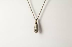 Chrysalis Necklace (Nympha, 1.55 CT Single L-Stone, DA+DIA)