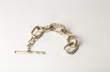 Roman Toggle Chain Bracelet (Small Links, Mega Pavé, MA+DIA)