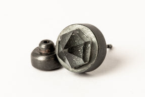 Stud Earring (11mm, Herkimer Spike, KA+HER)