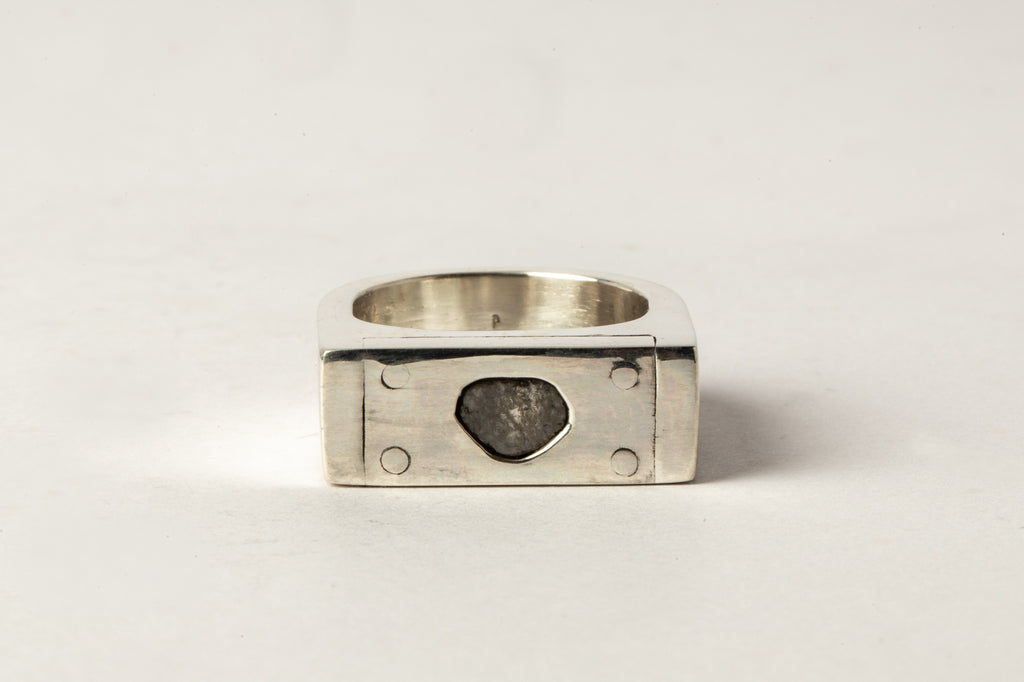 Plate Ring Single (0.2 CT, 1-Stone, 9mm, PA+DIA)