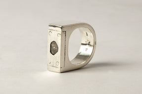 Plate Ring Single (0.2 CT, Diamond Slab, 9mm, PA+DIA)