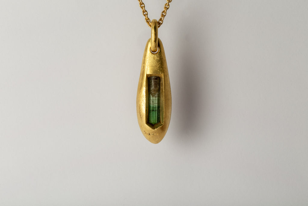 Chrysalis Necklace (Envelopment, Tourmaline, AG+AGA+TOU)
