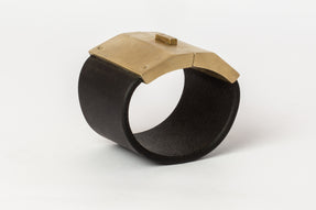 Box Lock Bracelet (Facet, Wide, BLK+MR)