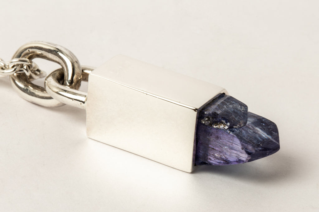 Talisman Necklace SPECIMEN (Cast Sheath, Linked, Tanzanite, PA+TAN)