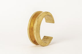 Crescent Channel Bracelet (30mm, AG)