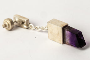 Talisman Dangle Earring (0.1 CT, Amethyst, MA+DIA+AME)