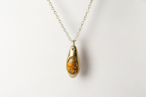 Chrysalis Necklace (Cremaster Emergence, Bumblebee Jasper, MR+MA+JAS)