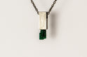 Talisman Cuboid Necklace (Emerald, DA+EMER)