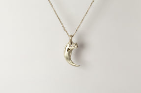 Bear Claw Necklace Redux (0.4 CT, Diamond Slab, MA+DIA)