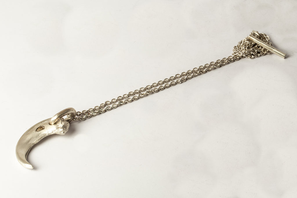 Bear Claw Necklace Redux (0.4 CT, Single M-Stone, MA+DIA)