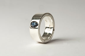 Sistema Ring (1.01 CT,  Sapphire Faceted Slab, 9mm, PA+SAF)