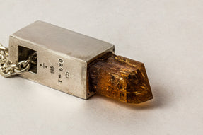 Talisman Cuboid Necklace SPECIMEN (Imperial Topaz, PA+ITOP)