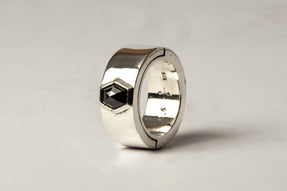 Sistema Ring (Fancy Setting, Black Hex Diamond, 1.05 CT, 9mm, PA+BLKDIA)