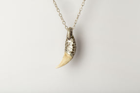 Bear Tooth Necklace Ghost Hybrid (Large, Mega Pavé, MA+B+DIA)