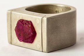 Plate Ring Single (5.0 CT Ruby Slab, 17mm, DA+RUS)