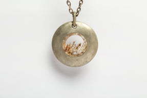 Disk Gateway Necklace (Glacial Quartz, DA+GLA)