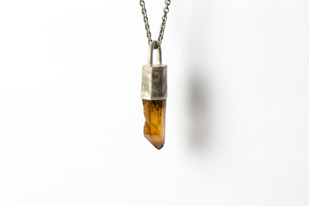 Parts Of Four Talisman citrine-pendant silver necklace