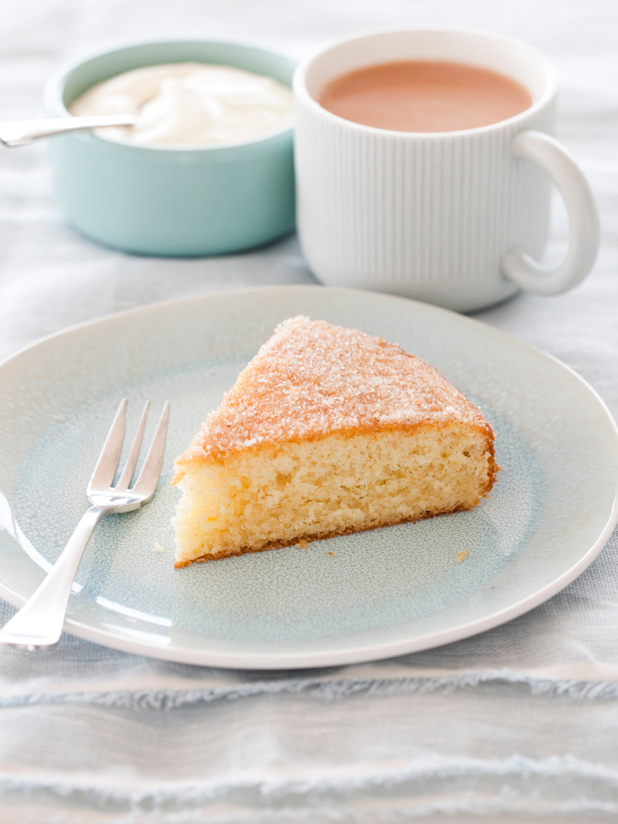 Vanilla Bean Teacake with Vanilla Sugar Topping