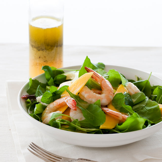 Prawn, Rocket & Mango Salad with Vanilla Citrus Vinagrette