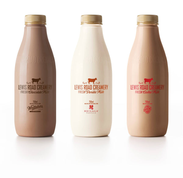 Lewis Road Creamery Supreme Coffee Whittakers Heilala Vanilla