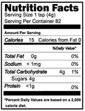 heilala vanilla sugar nutrition facts