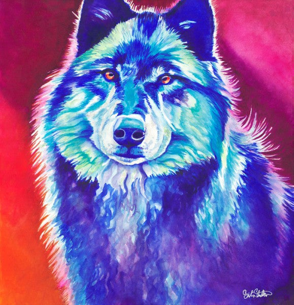 Akela: Signed Print from Original Wolf Painting