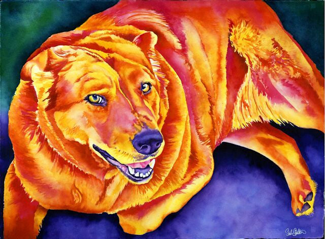 Bosco: Signed Print from original watercolor dog painting.