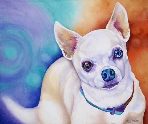 Cooper: Signed Print from original watercolor dog painting.
