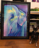 Original Elephant Watercolor Painting to Benefit Rescues