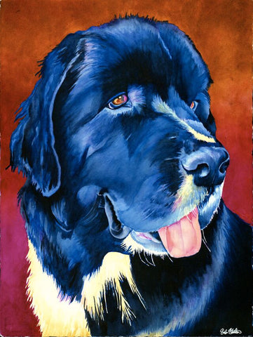 Lucille: Signed Print from original watercolor dog painting.