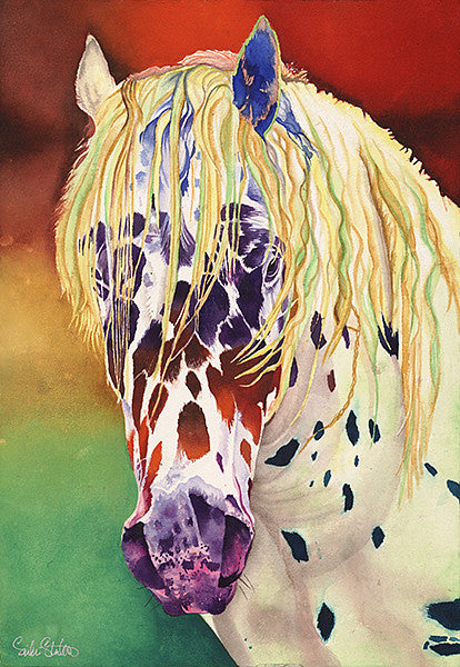Pokey: Signed Print from original watercolor horse painting.
