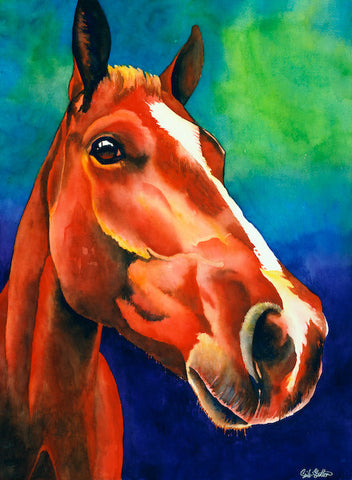 Royal: Signed Print from original watercolor horse painting.