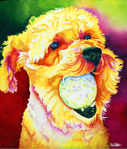 Theodore: Signed Print from original watercolor dog painting.