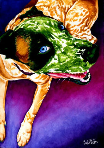 Oscar: Signed Print from original watercolor dog painting.