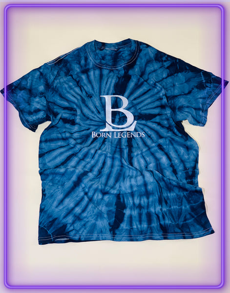 Born Legends Limited Edition 3m Reflective Tie-Dye Blue T-Shirt