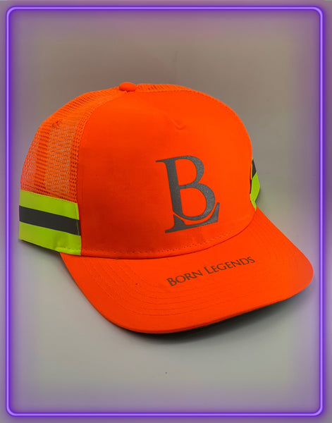 Born Legends 3M Reflective Trucker Neon Orange Cap