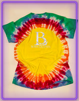 Born Legends Limited Edition 3m Reflective Tie-Dye Yellow Red Green T-Shirt