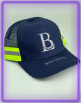 Born Legends 3M Reflective Trucker Navy Blue Cap