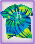 Born Legends Limited Edition 3m Reflective Tie-Dye Blue Green T-Shirt