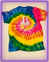 Born Legends Limited Edition 3m Reflective Tie-Dye Yellow Pink Green Green T-Shirt