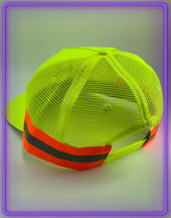 Born Legends 3M Reflective Trucker Neon Green Cap