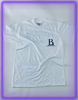 "White Pocket T-Shirt With 3M Reflective ""Legendary Use Only"" and Black Logo (Limited Logo Collab)"